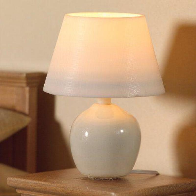 White Ceramic Table Lamp 50 x 35mm