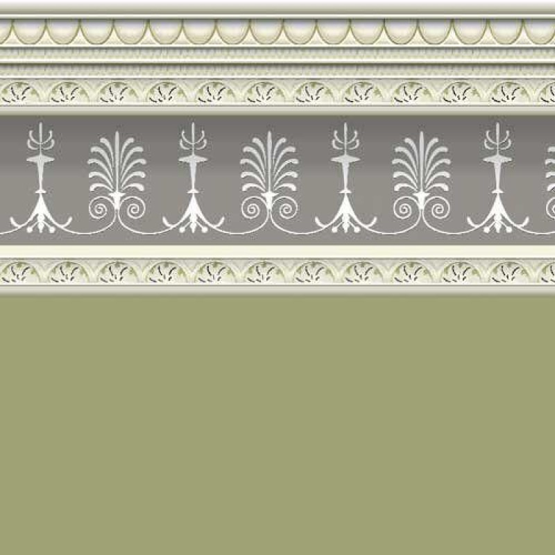 Sage Wallpaper with Border 430 x 600mm