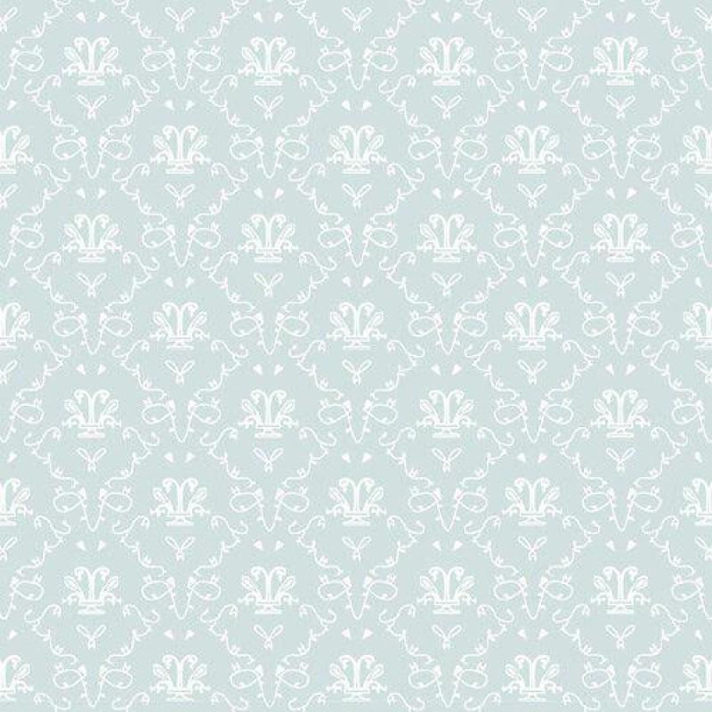 Bleu French Toile Wallpaper 430 x 600mm