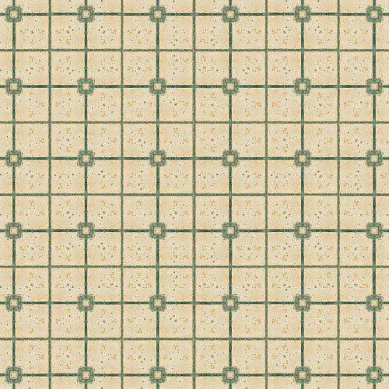 Green & Beige Tile Paper 430 x 600mm