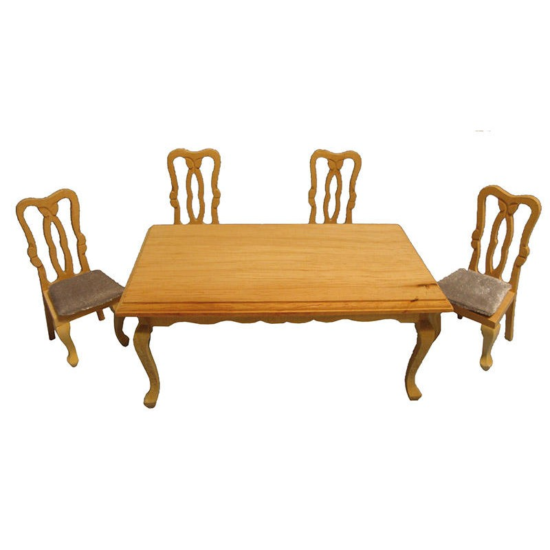Rectangular Dining Table & Four Chairs