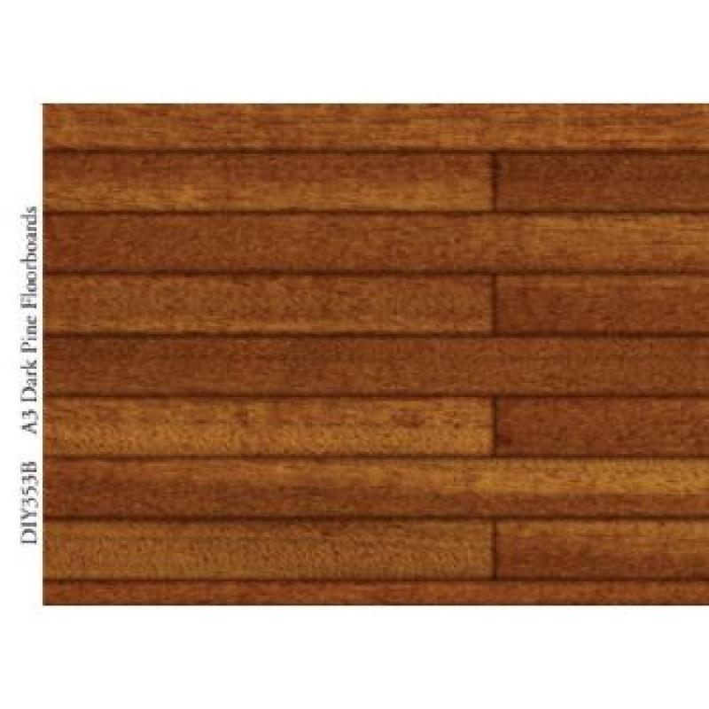 A3 Dark Pine Floorboards Card