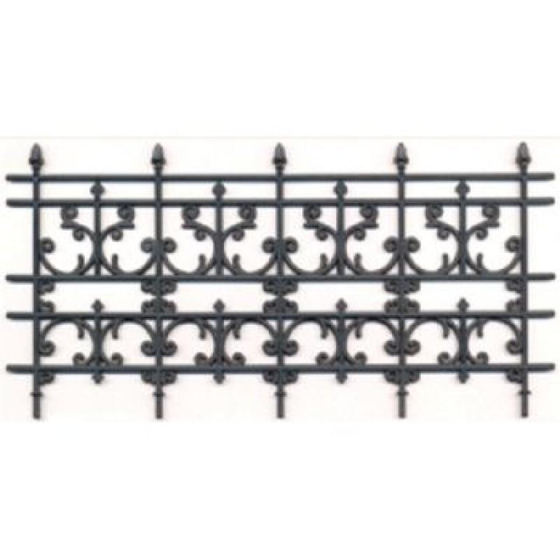 Plastic wrought iron railings