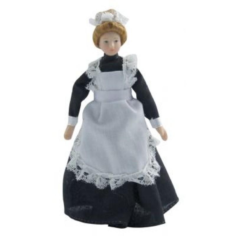 Porcelain Maid in Black Dress