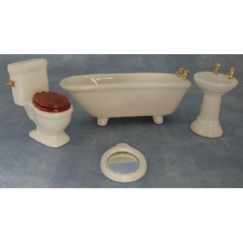 Ceramic Bathroom Set, 4 pieces