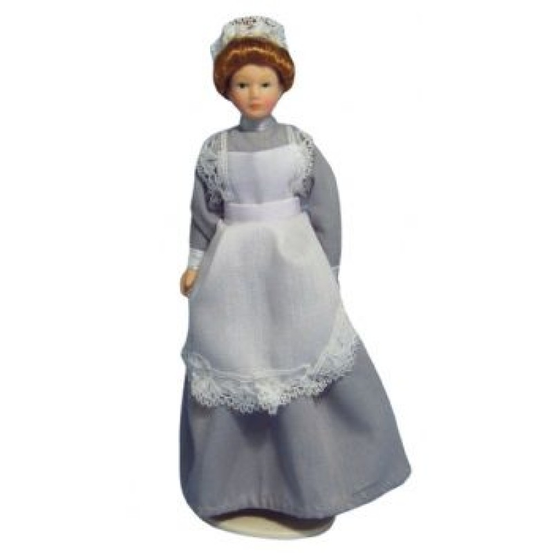 Porcelain Maid In Grey Dress