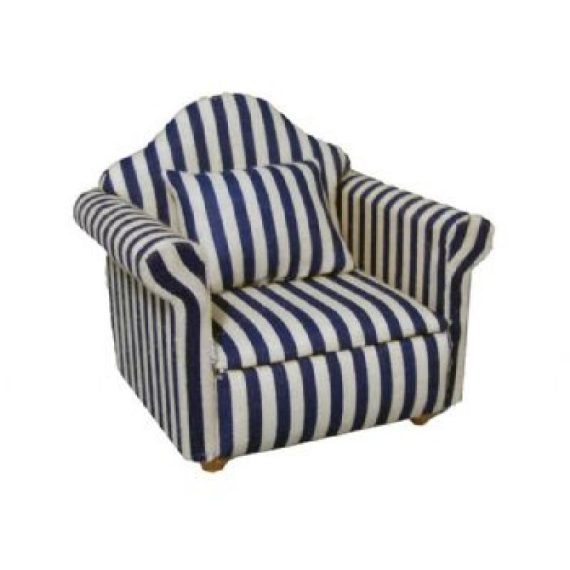 Blue Stripe Armchair