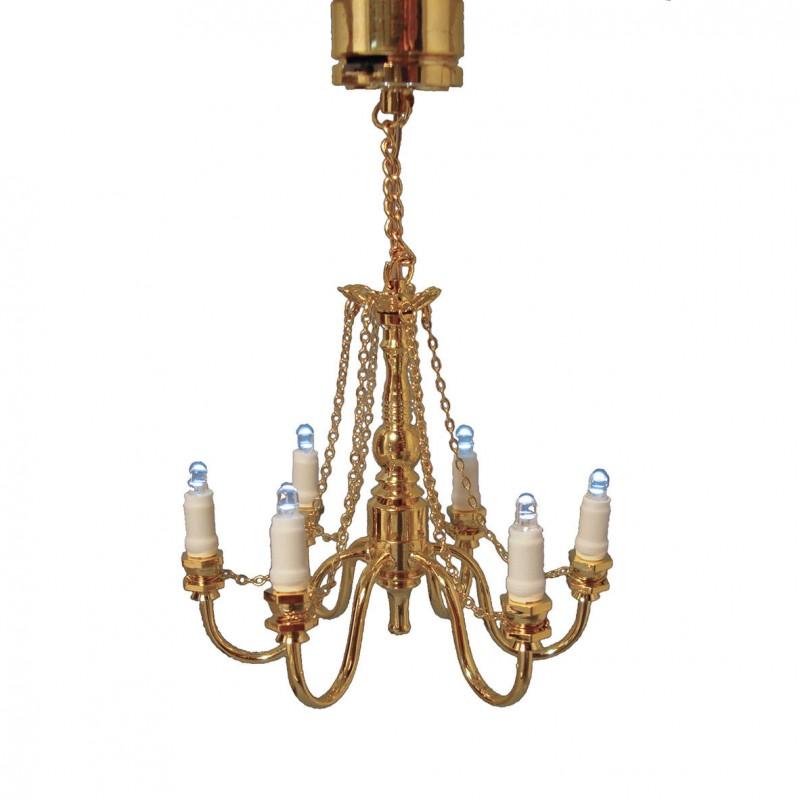 LED 6 light chandelier