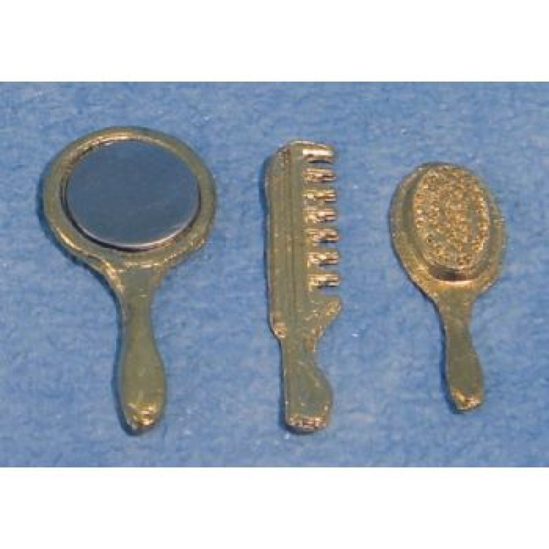 Brush, Comb, Mirror Set