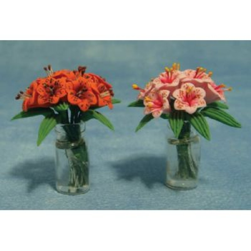 Lillies In Glass Vase