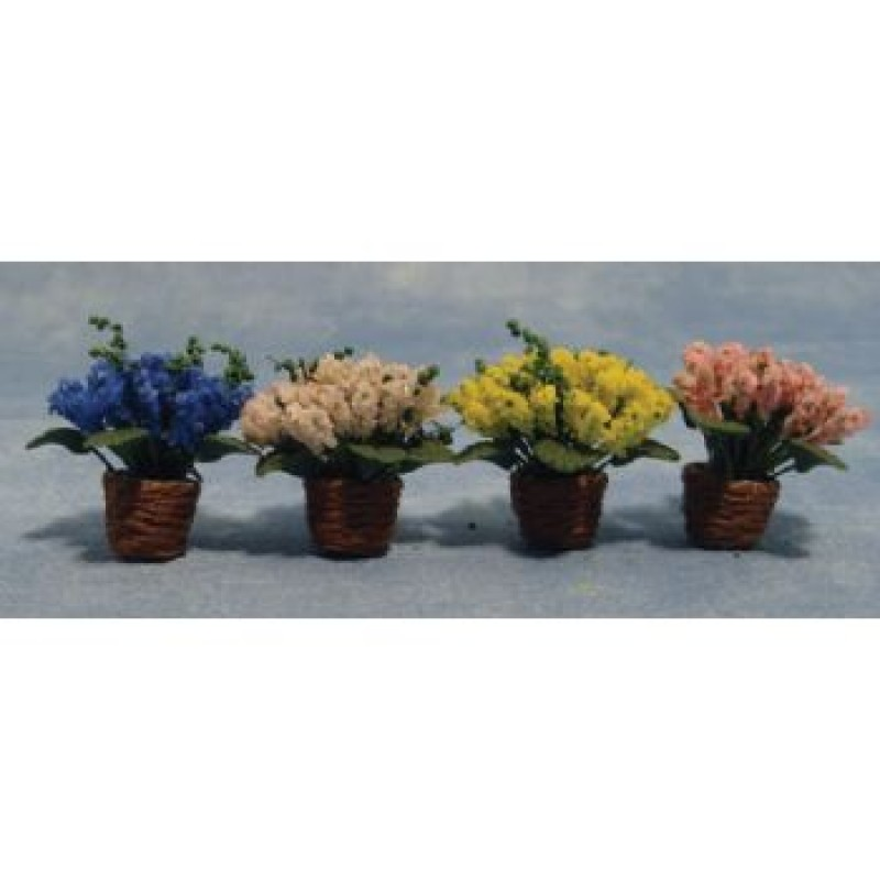 Assorted Flowers In Baskets
