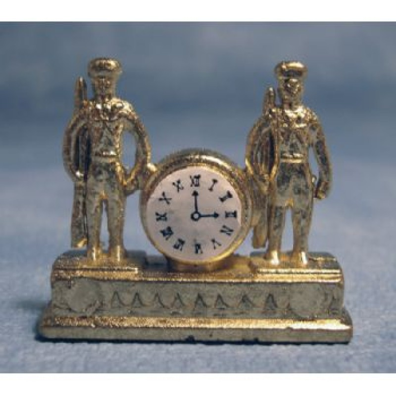 Gold' Soldiers Mantle Clock