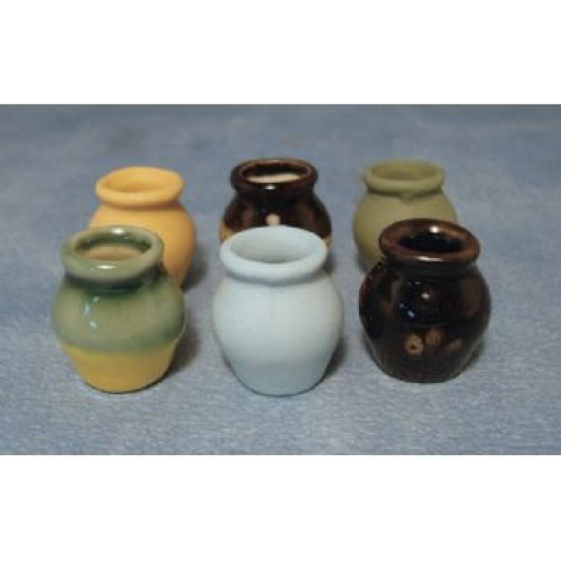 Round Vases, 6 pack