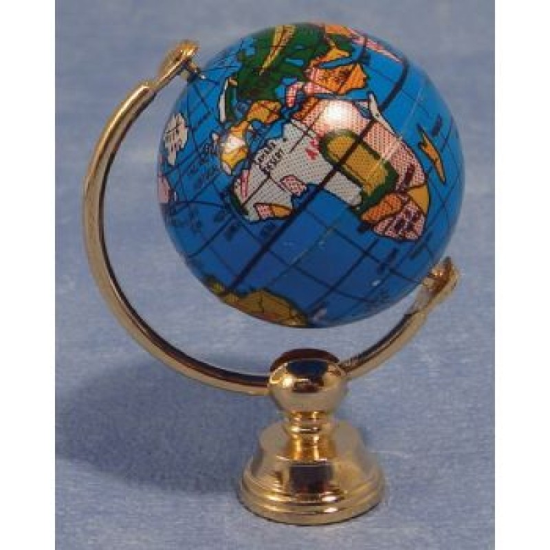 Globe on Brass Stand