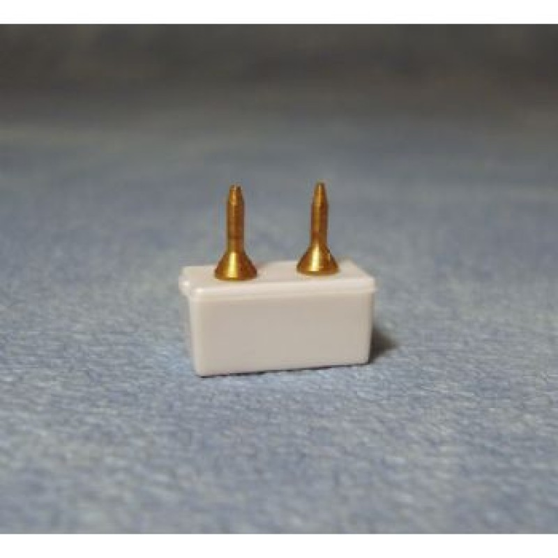 Tap in Plugs for Double Wire, 4 pack