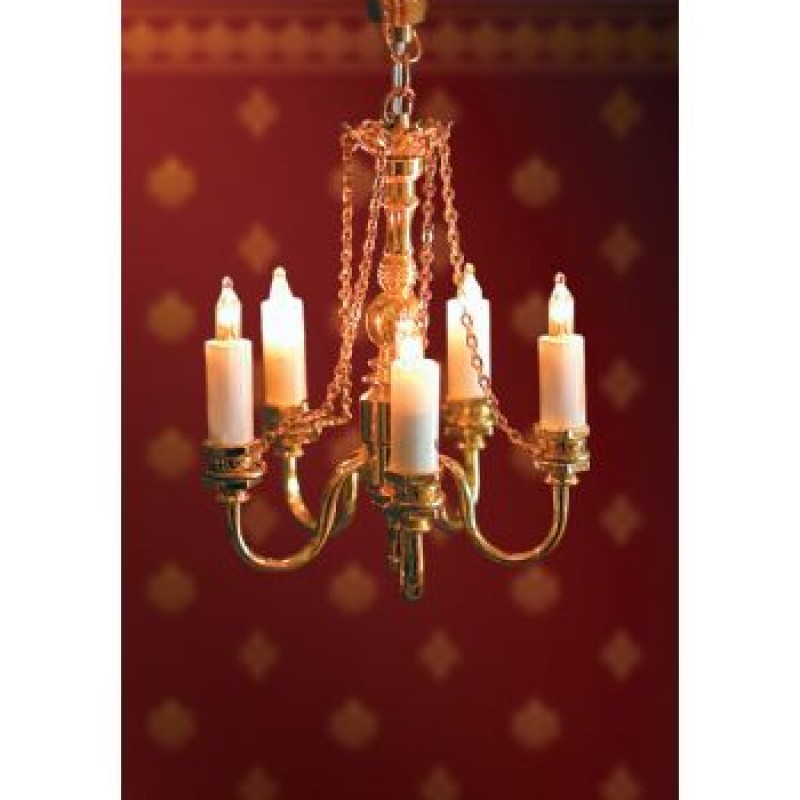 5 Candle Deluxe Chandelier