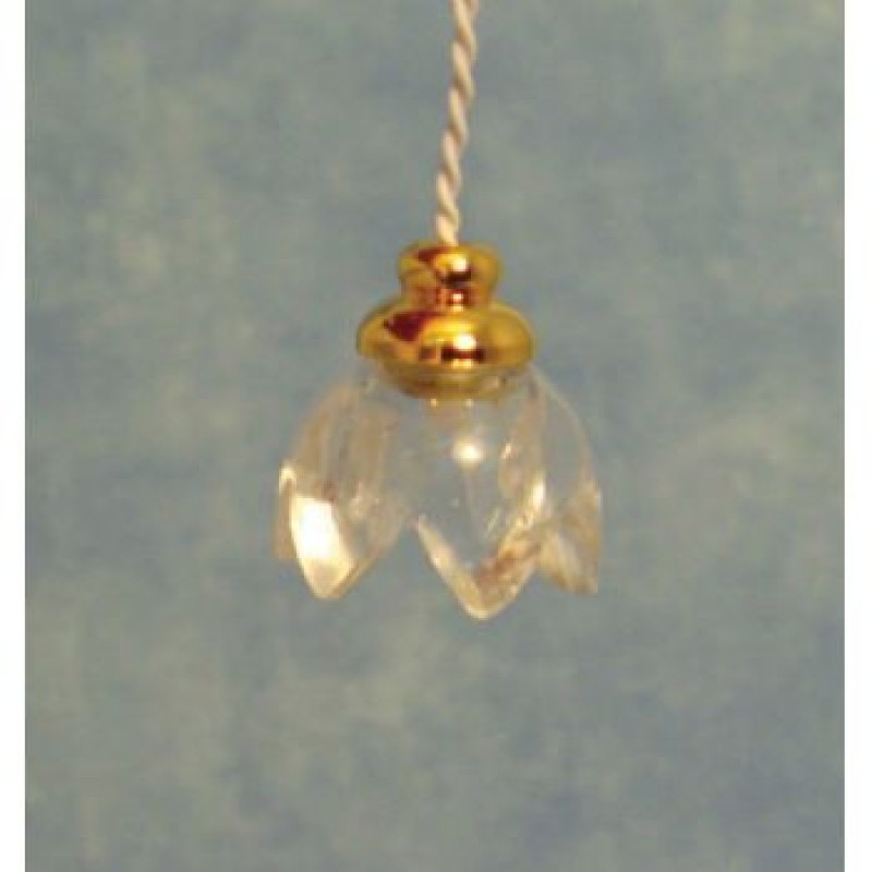 Lily Hanging Lamp with Clear Shade