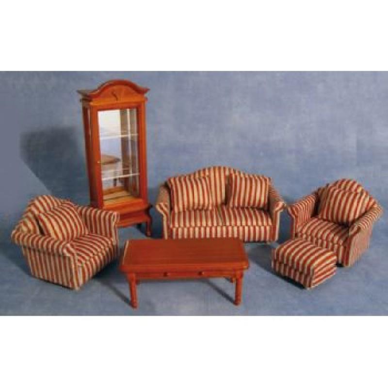 Striped Sofa Living Room Set
