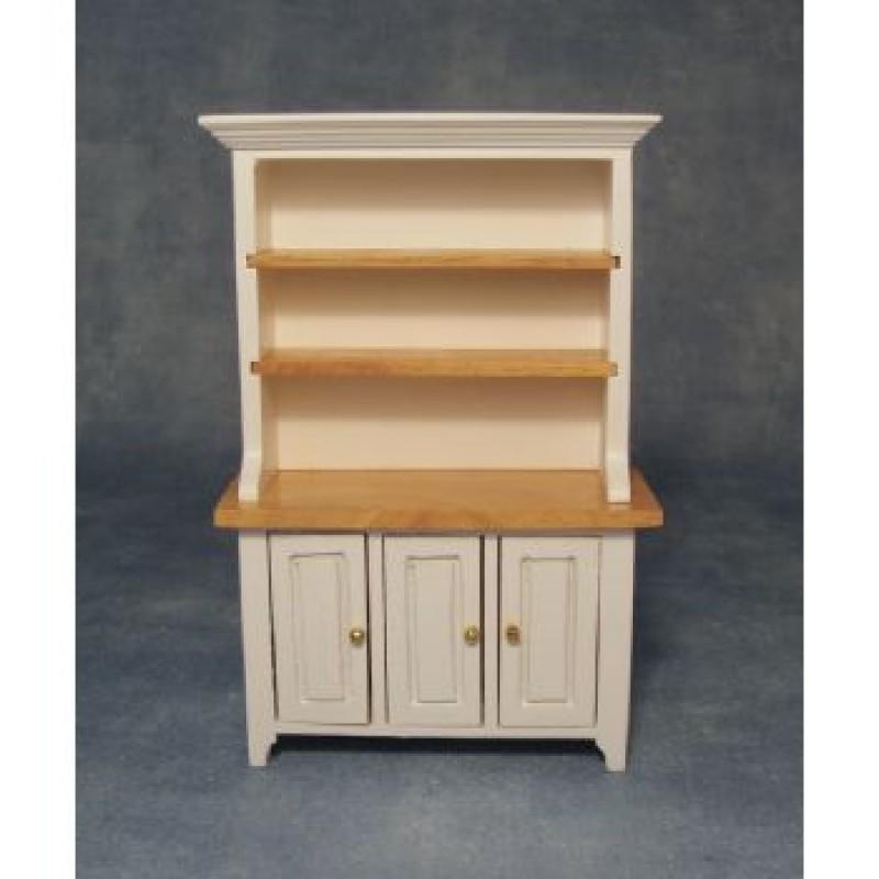 White & Pine Kitchen Dresser