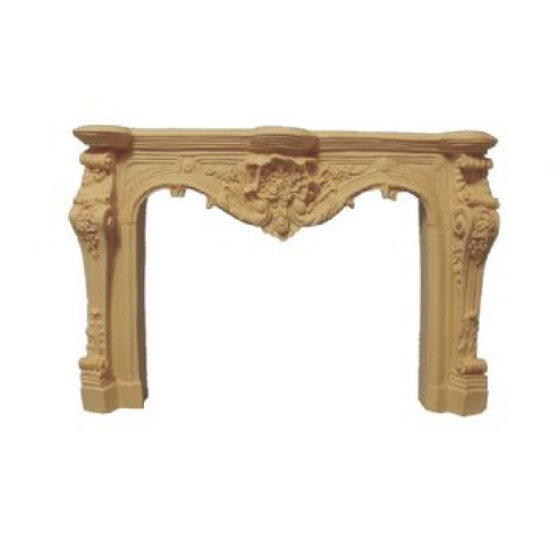 Cream Carved Fireplace