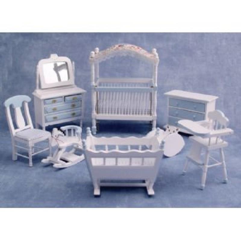 Deluxe Blue Cot Nursery Set