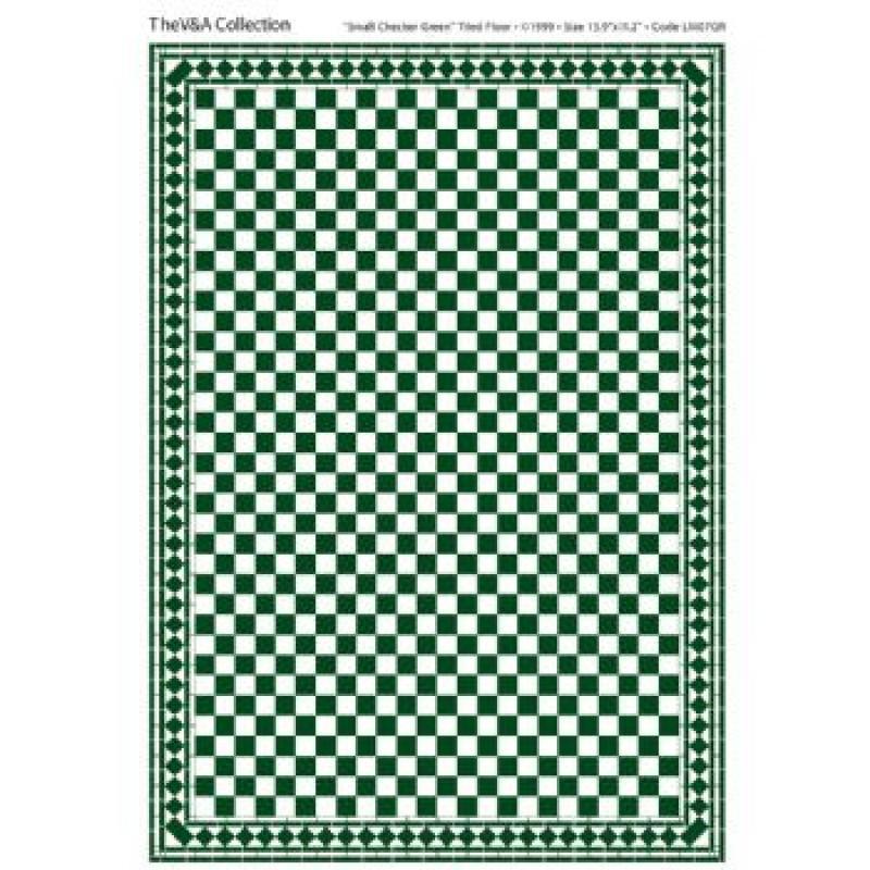 A3 Floor Tile Card Green & White