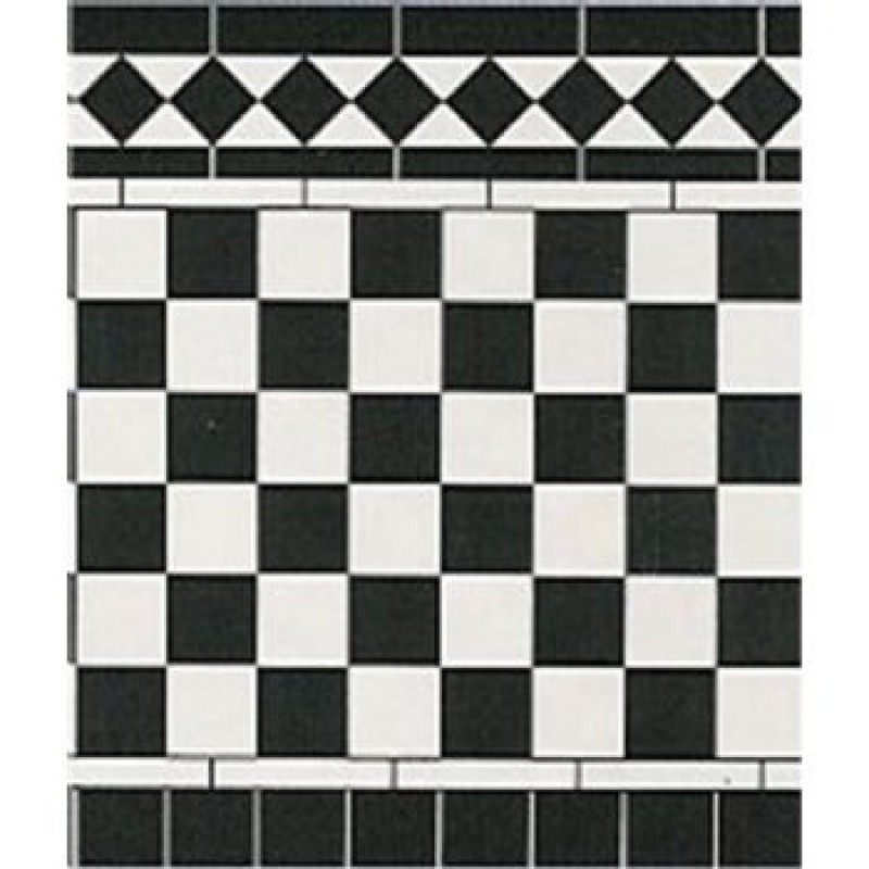 Wall Tiles Card Black & White
