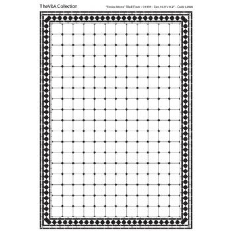 A3 Black & White Card Floor Tiles Fenice