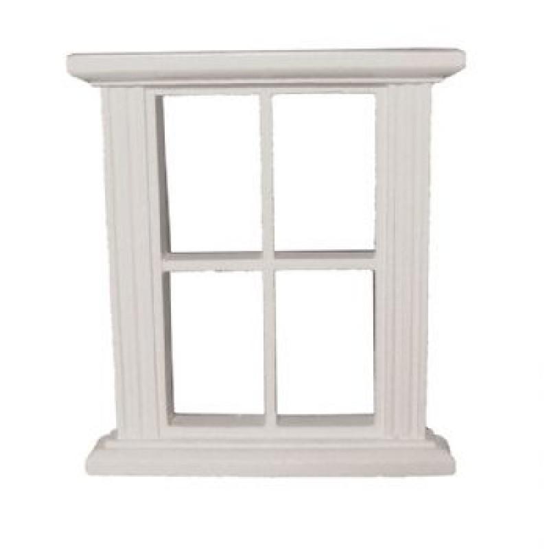 4 Pane White Window