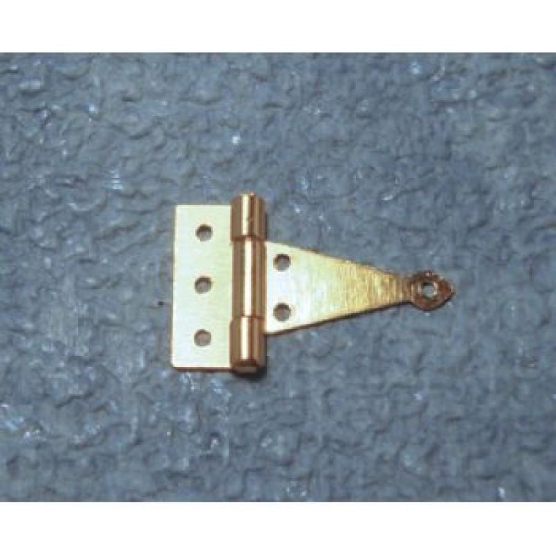 10mm Brass Tee Hinges, 4 pack