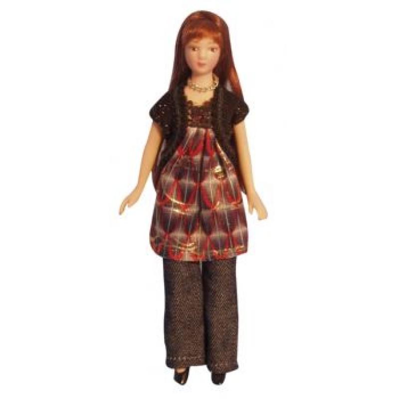 Modern Woman Smock Dress Doll