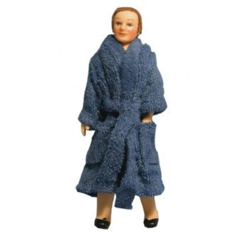 Man in Bath Robe Doll