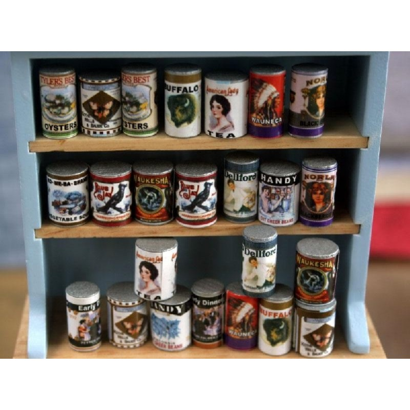 Set of 24 Food Cans