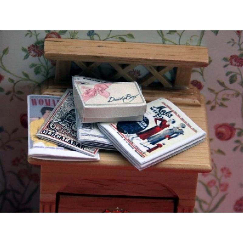 Set/5 Magazines & Box of Chocolates