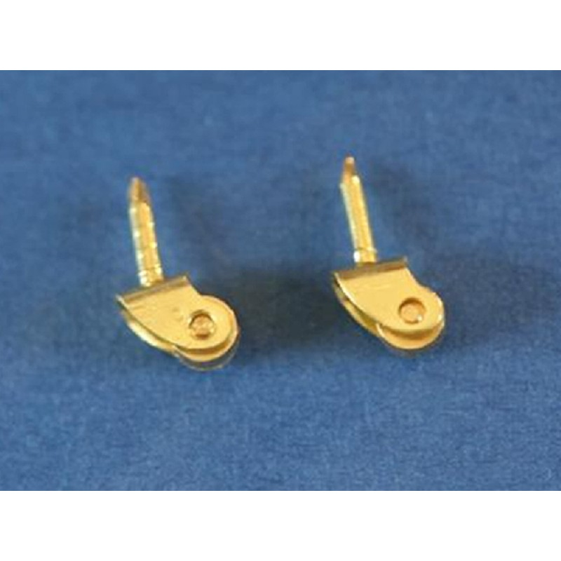 Set of 2 Brass Castors