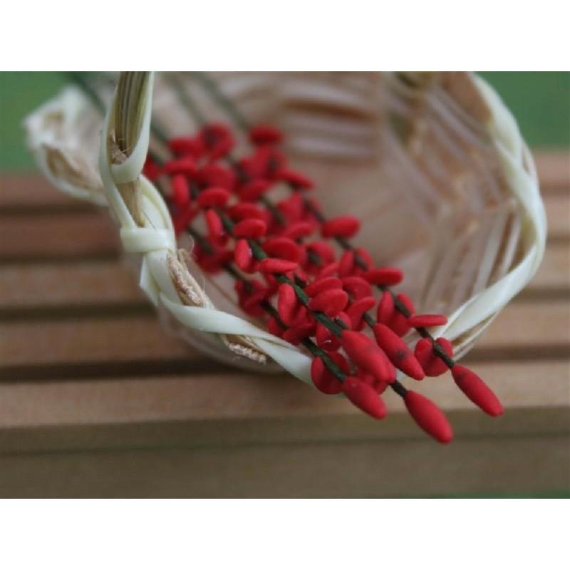 Set of 6 Flower Spray Red