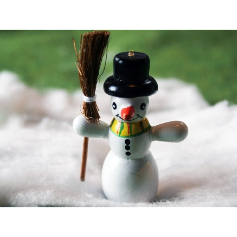 """Jolly 2"""" Snowman with Broom 0"""