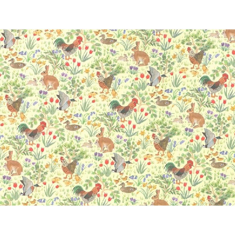 Country Springtime Lemon Wallpaper