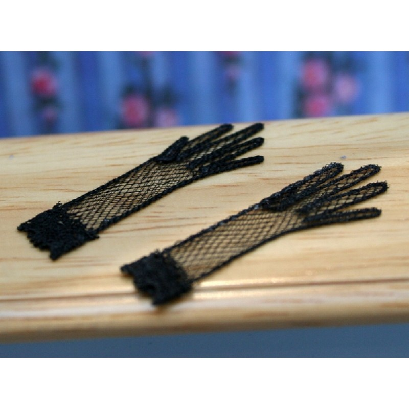 Ladies Gloves Black Net