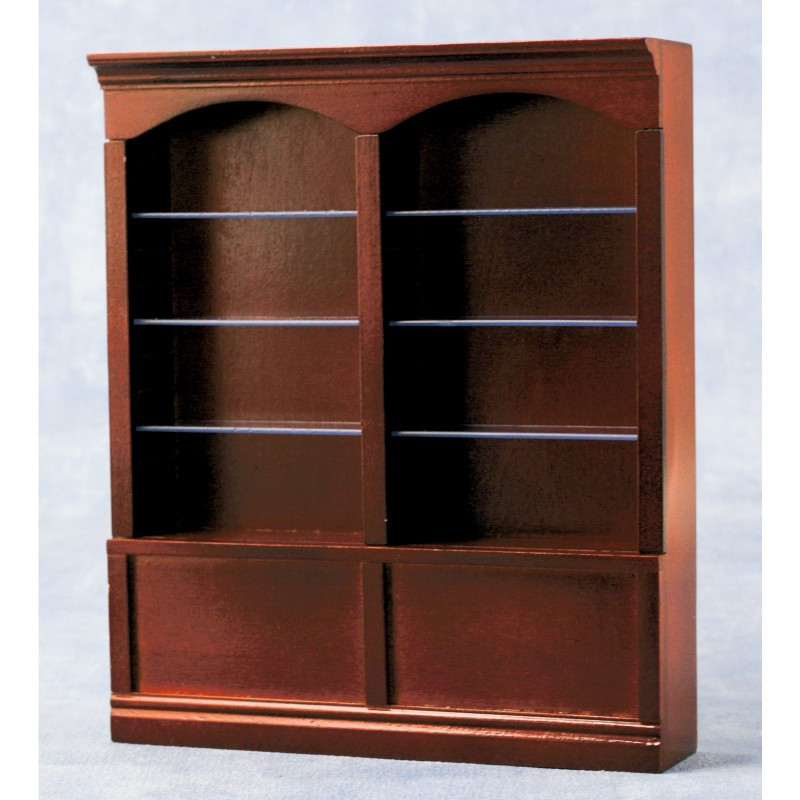 Deluxe Double Shelves Mahogany