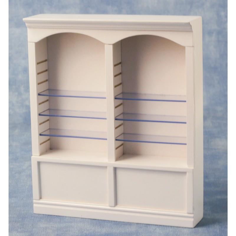 Deluxe Double Shelves White