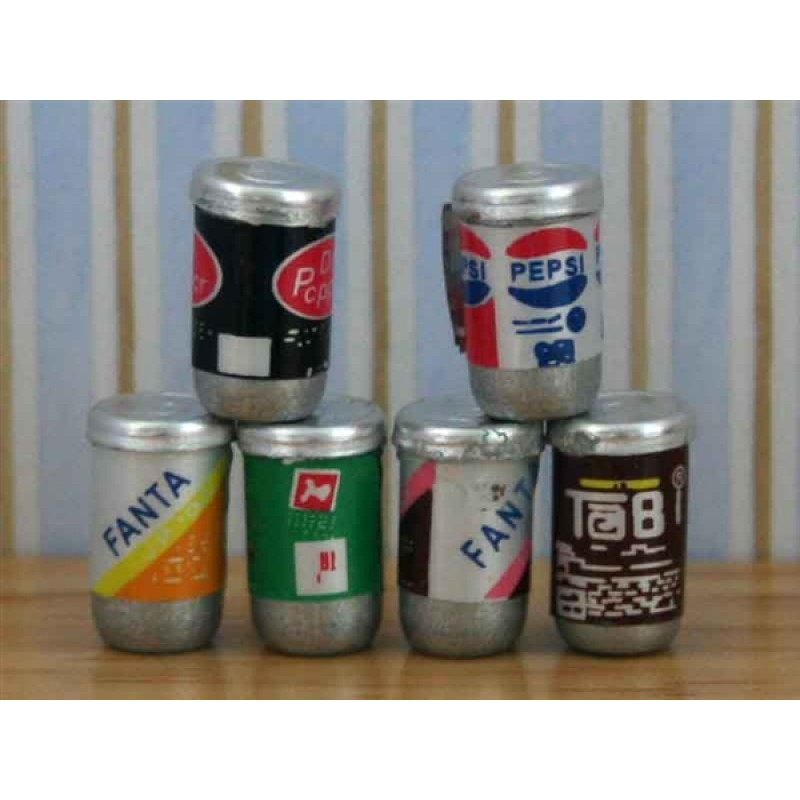 Set of 6 Drinks Cans