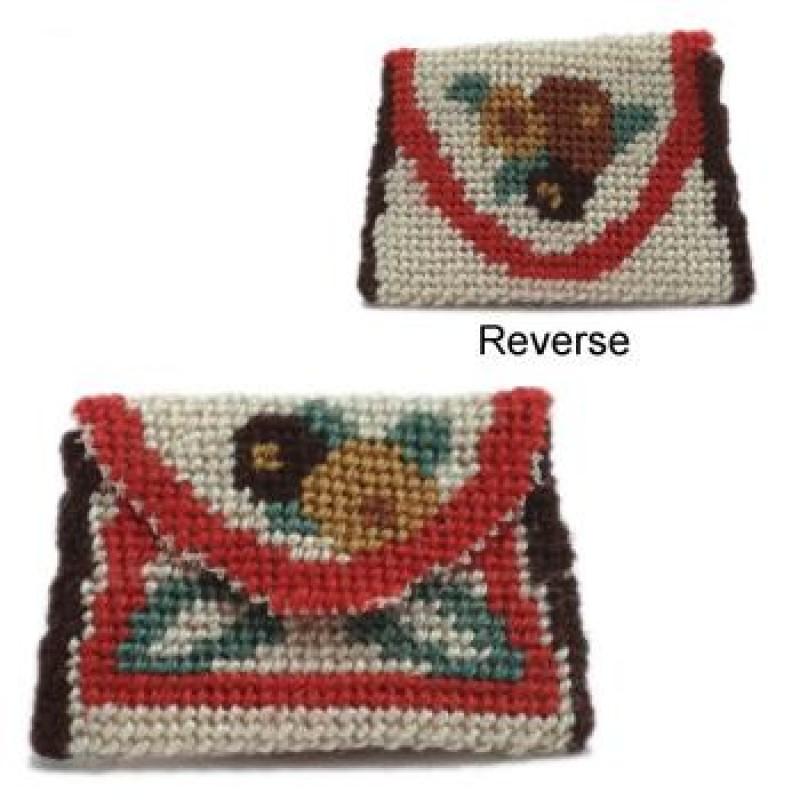 Deco Posy Stripe Dolls' House Needlepoint Clutch Bag Kit