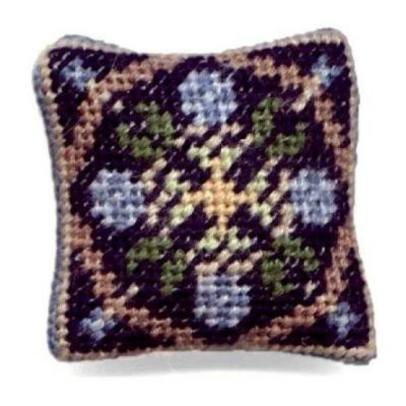 May (blue) Dolls' House Needlepoint Cushion Kit