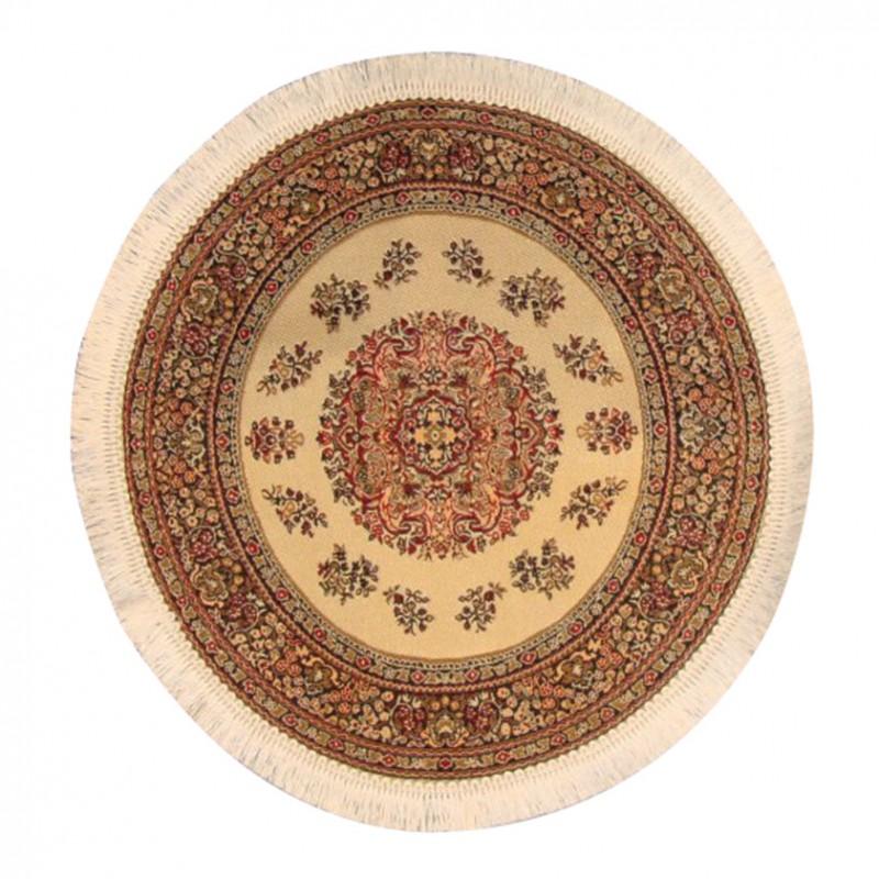 Circular Turkish Carpet Cream 190mm