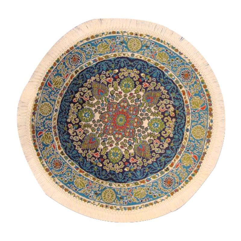Circular Turkish Carpet Blue 190mm
