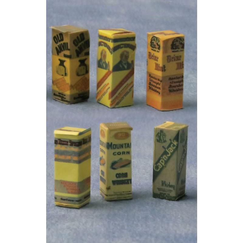 Babettes Miniaturen Spirit Bottles Boxes 6 pcs