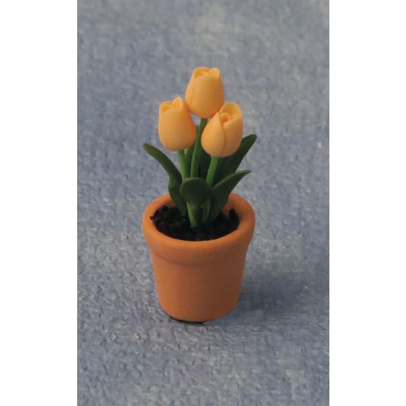 Babettes Miniaturen Tulips in Pot