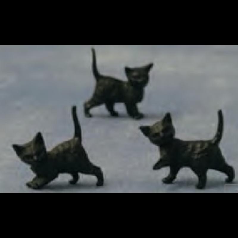 Babettes Miniaturen Black Kittens 12 pcs