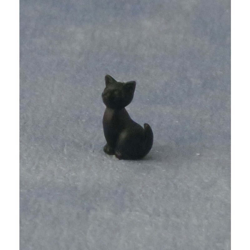 Babettes Miniaturen Black Sitting Kitten pk6